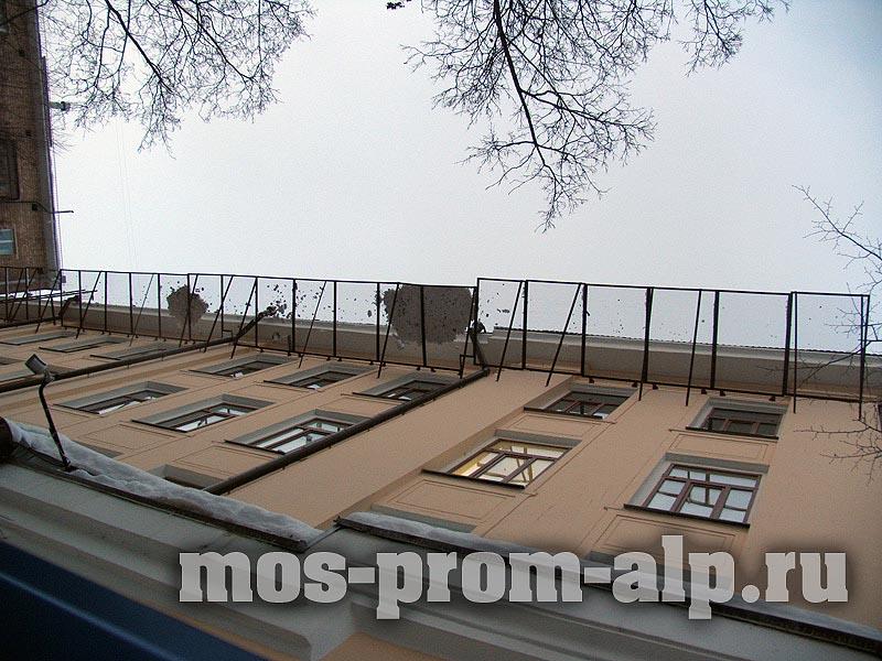 Защитно-улавливающие решетки для безопасной реконструкции здания