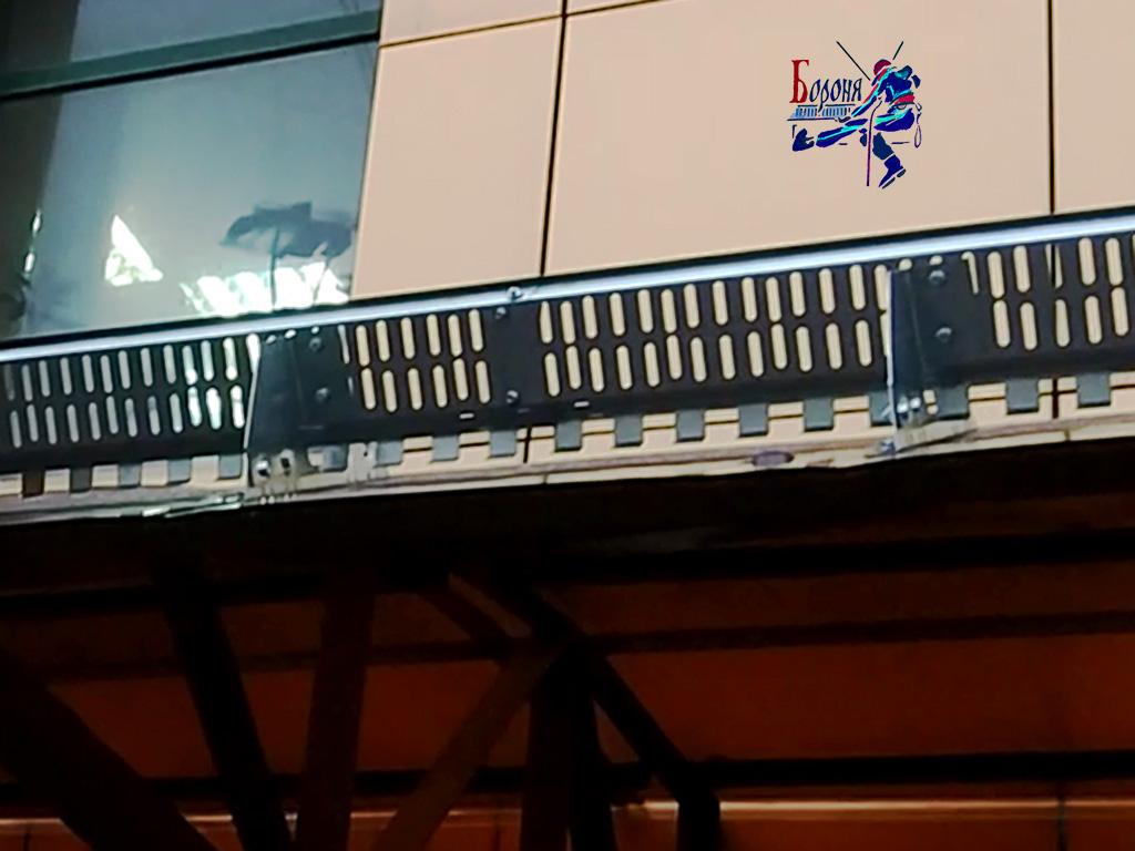 Решетчатые снегозадержатели на навес из сотового поликарбоната